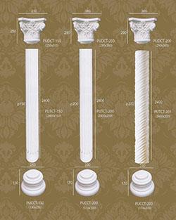 Bộ cột tròn trang trí 5