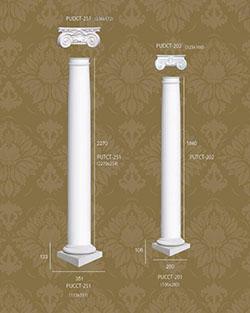 Bột cột tròn trang trí 6