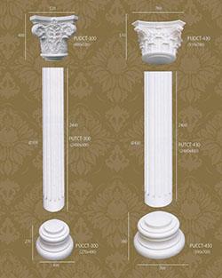 Bột cột tròn trang trí 8